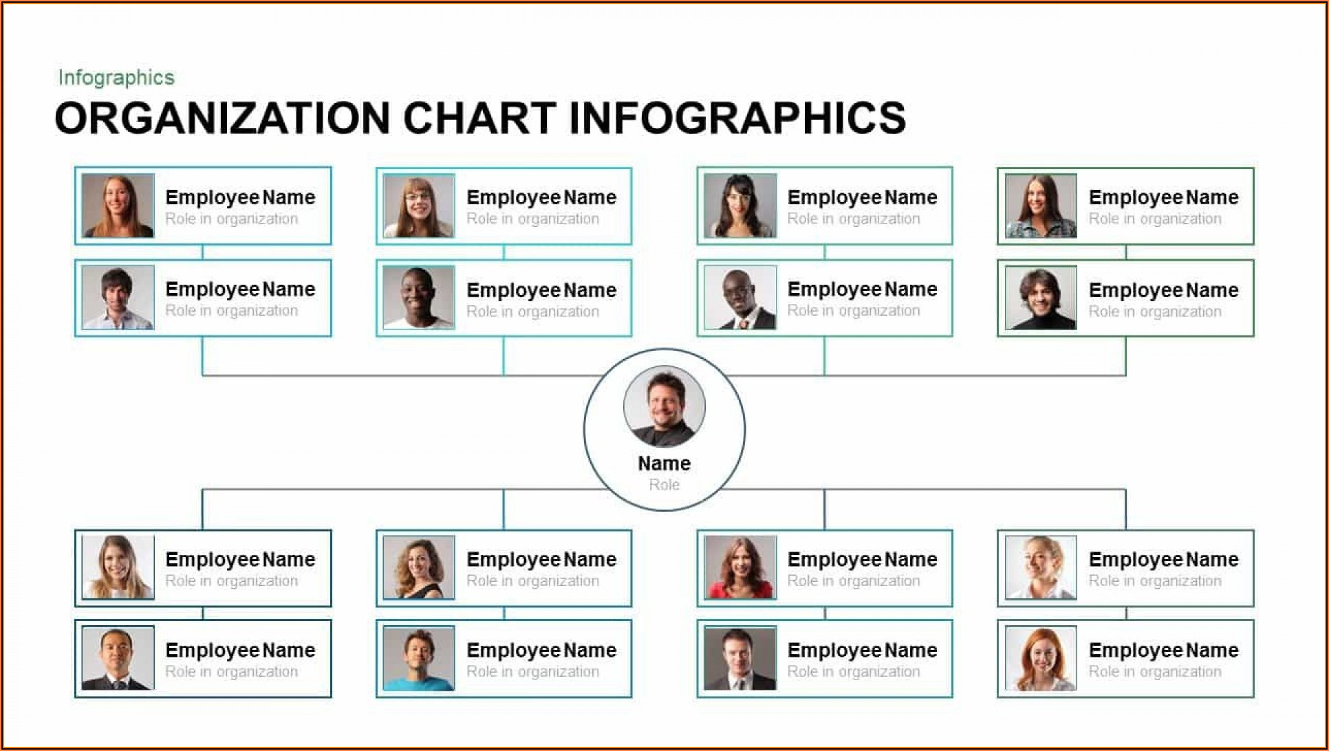 Org Chart Powerpoint Template Free