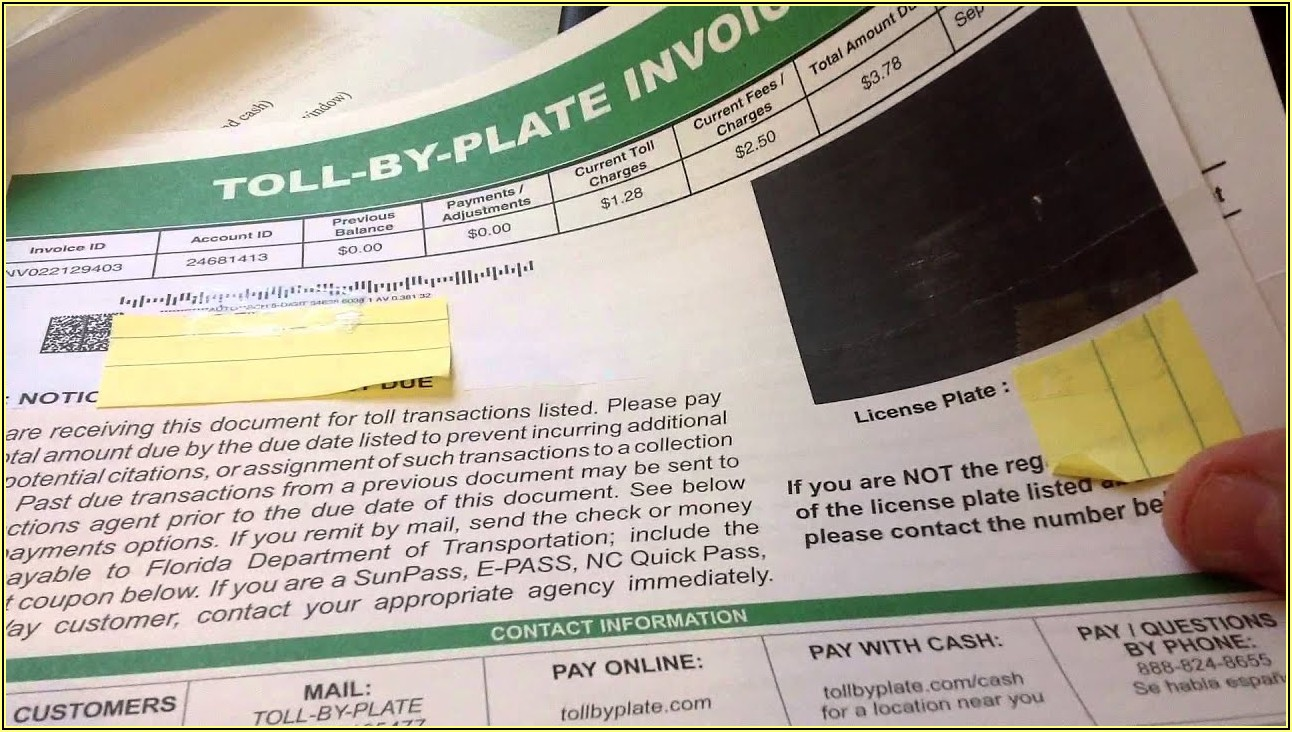 Pay Sunpass Without Invoice