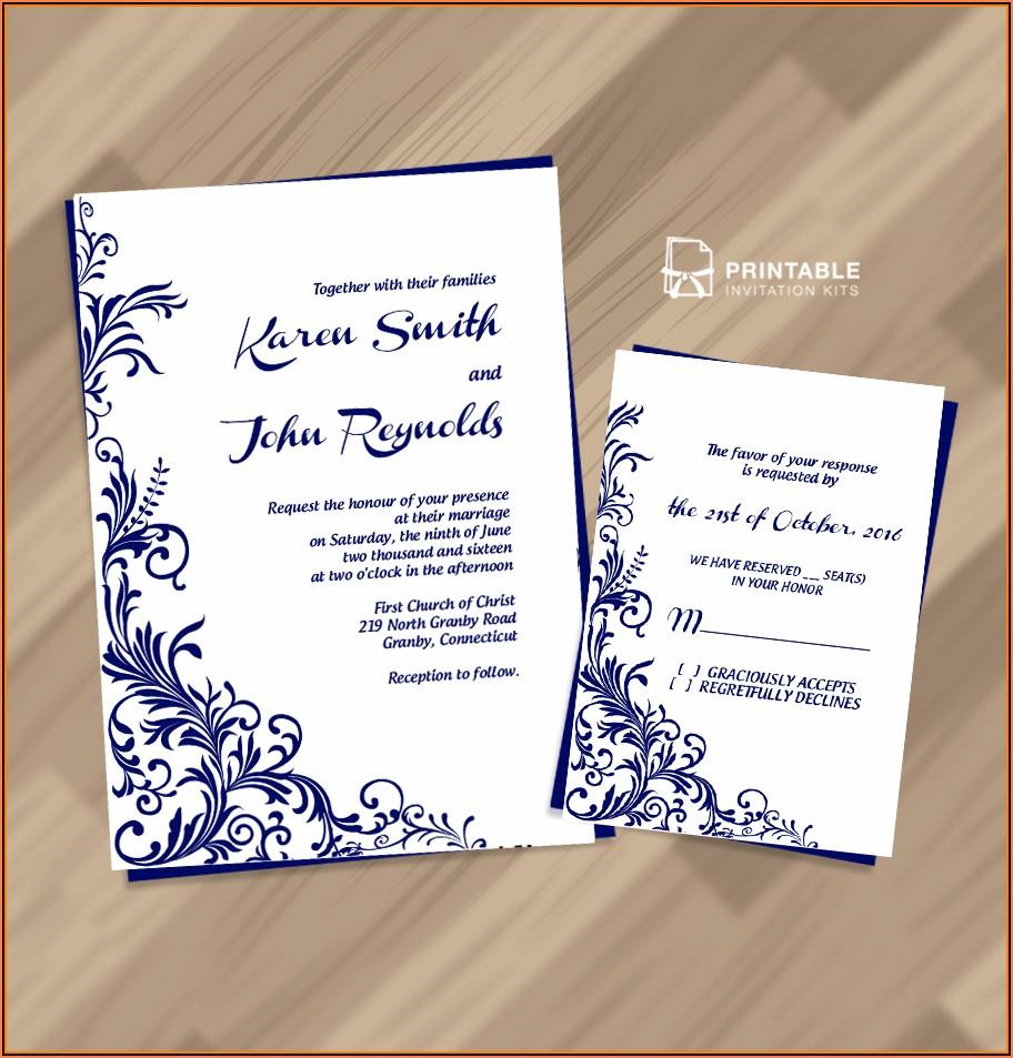 Pdf Wedding Invitation Templates