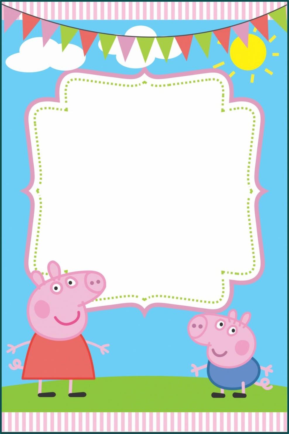 Peppa Pig Birthday Invitations Template