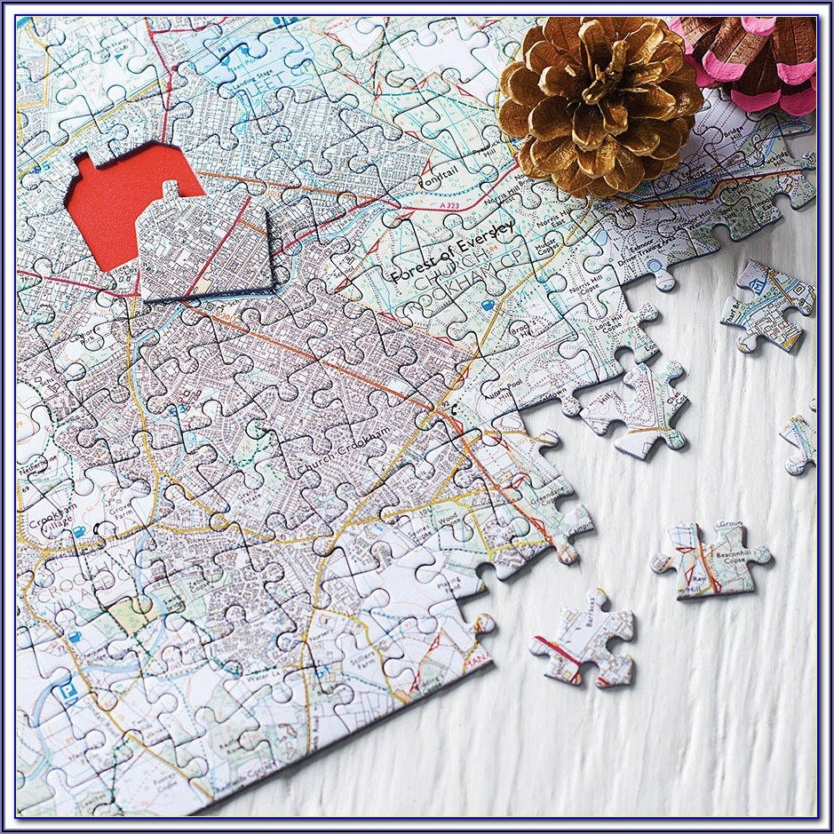 Personalised Map Jigsaw 1000