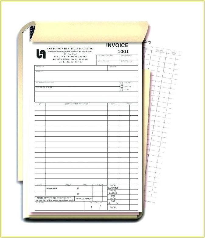 Personalized Invoice Books Vistaprint
