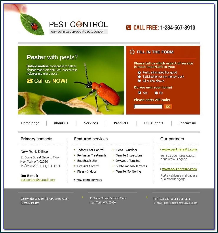 Pest Control Websites Templates