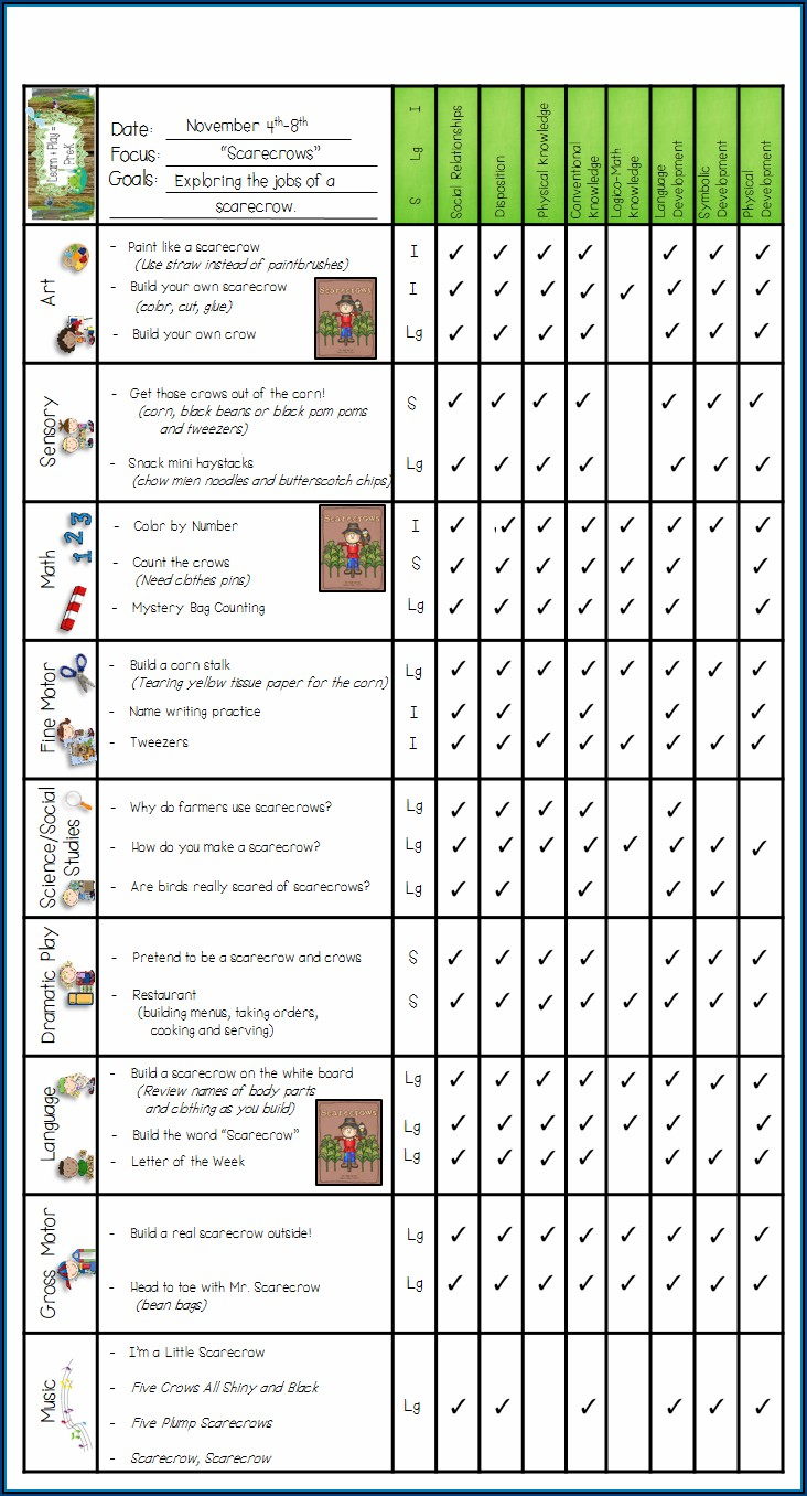 Play To Learn Preschool Curriculum Map