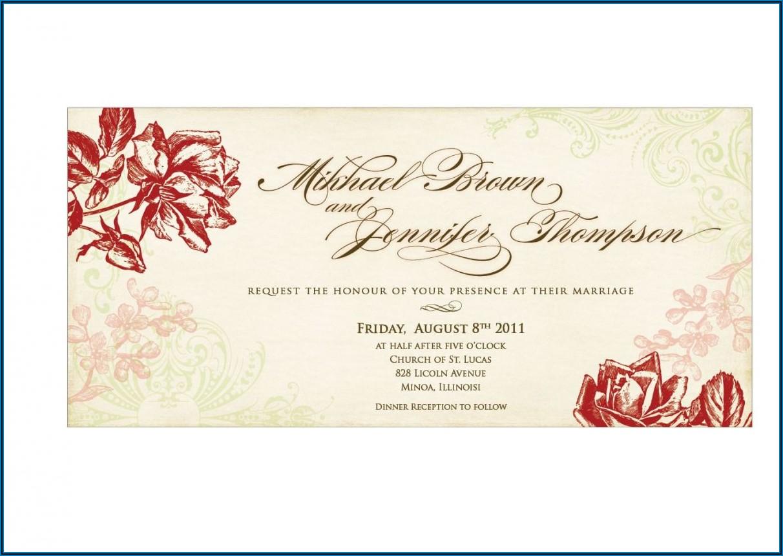 Postcard Wedding Invitations Templates