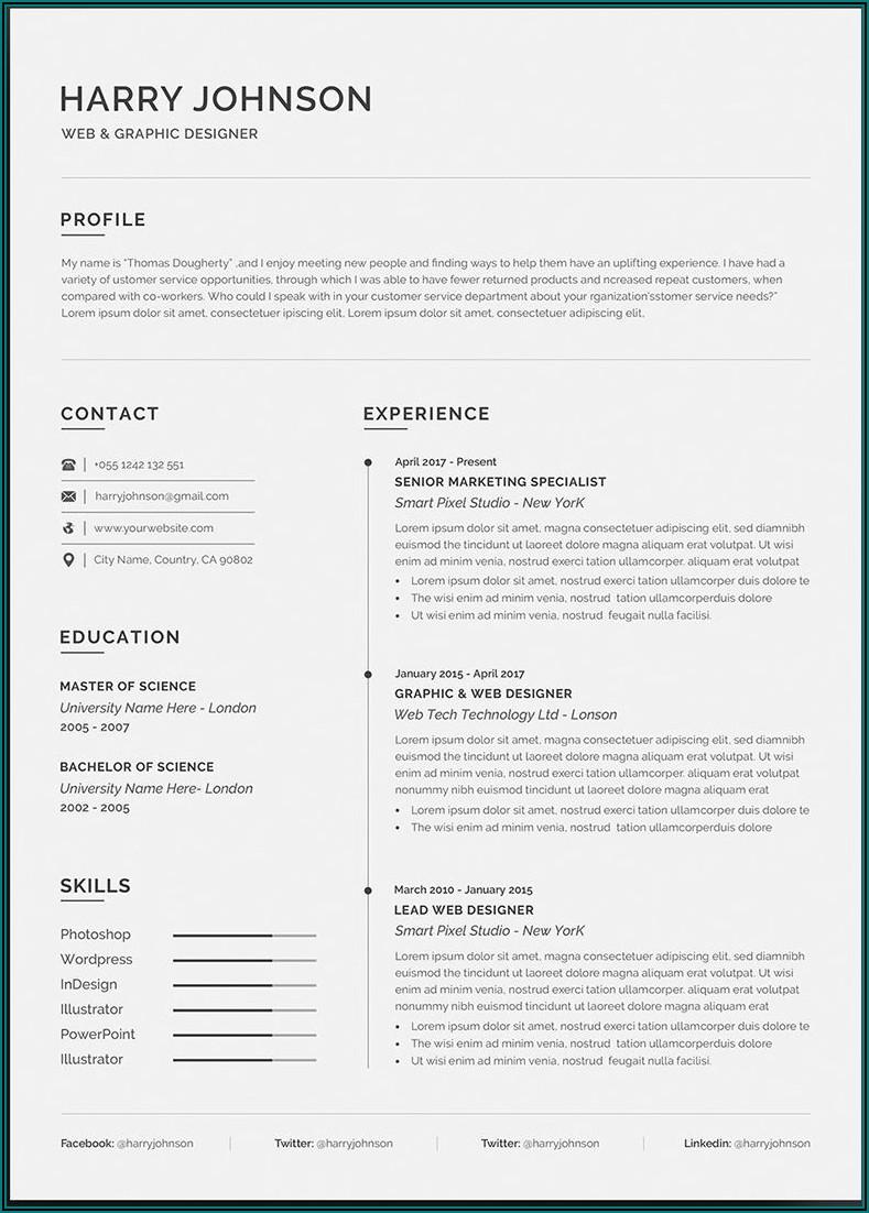 Premium Resume Templates For Free