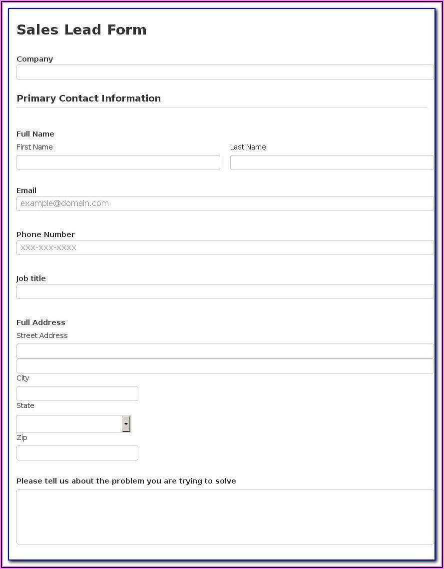 Prenuptial Enquiry Form Sample