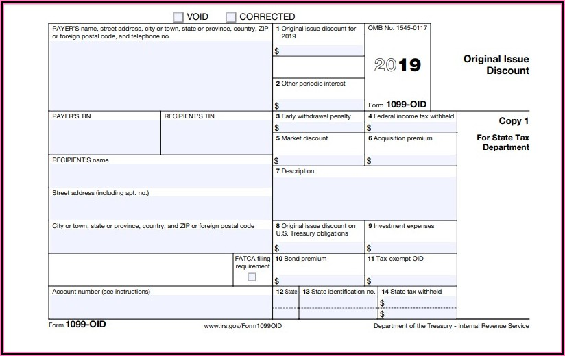 Printable 1099 Misc Forms 2019