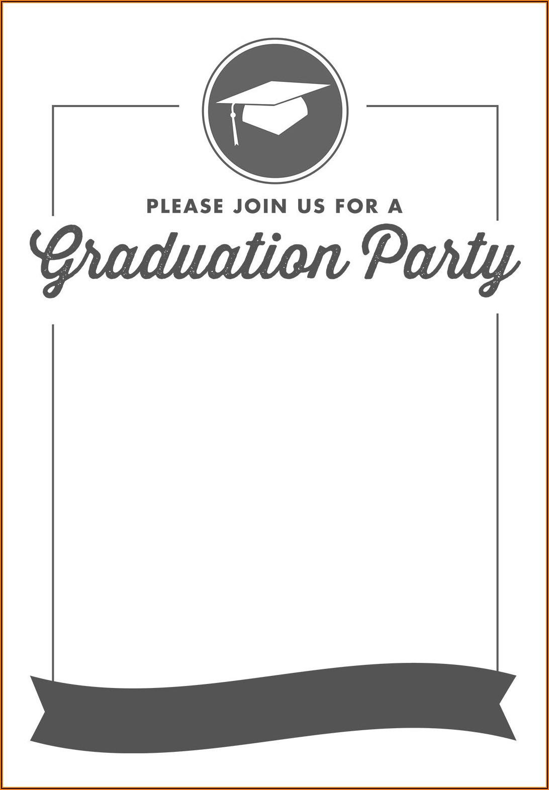 Printable Graduation Party Invitation Template