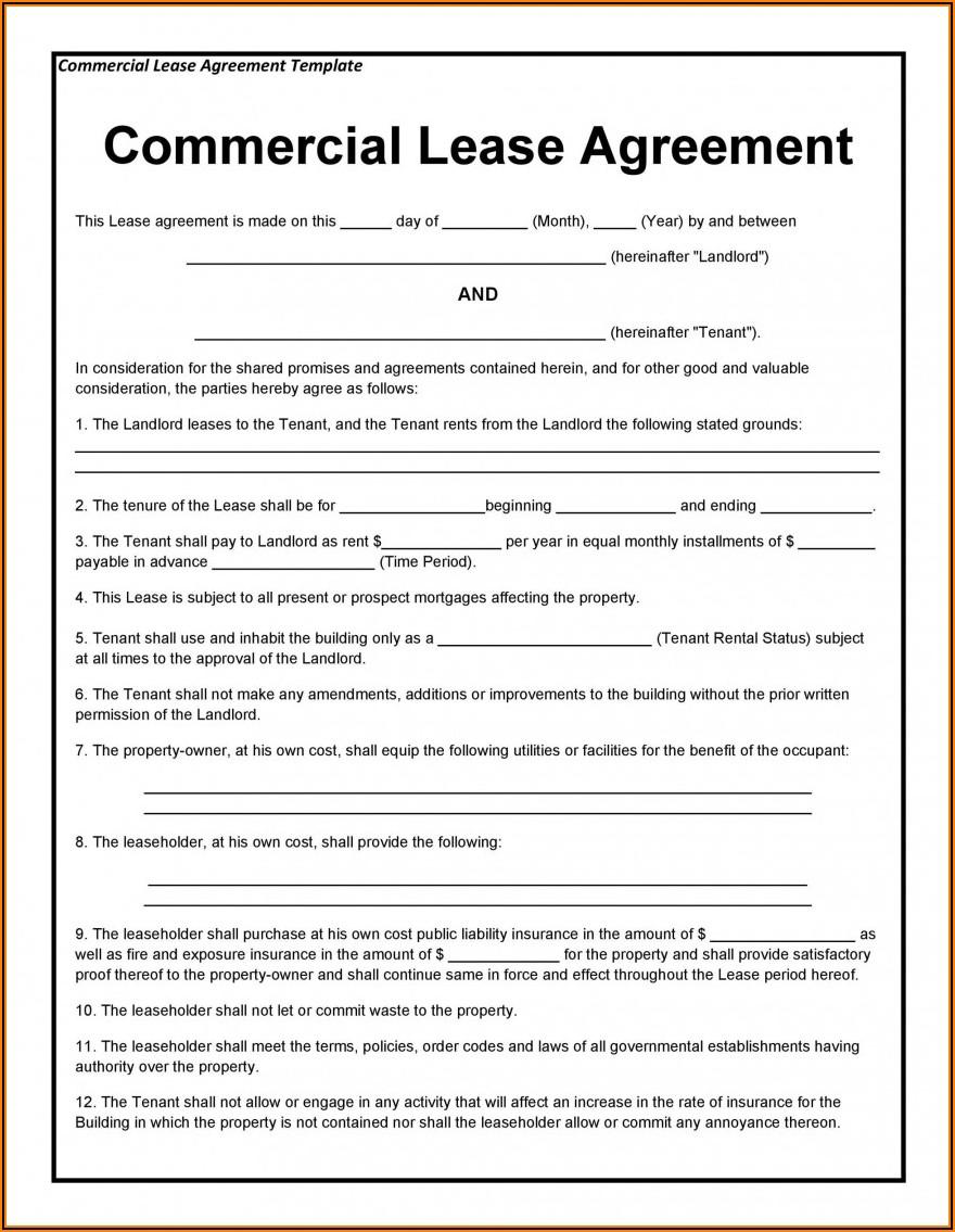 Printable Rental Agreement Template