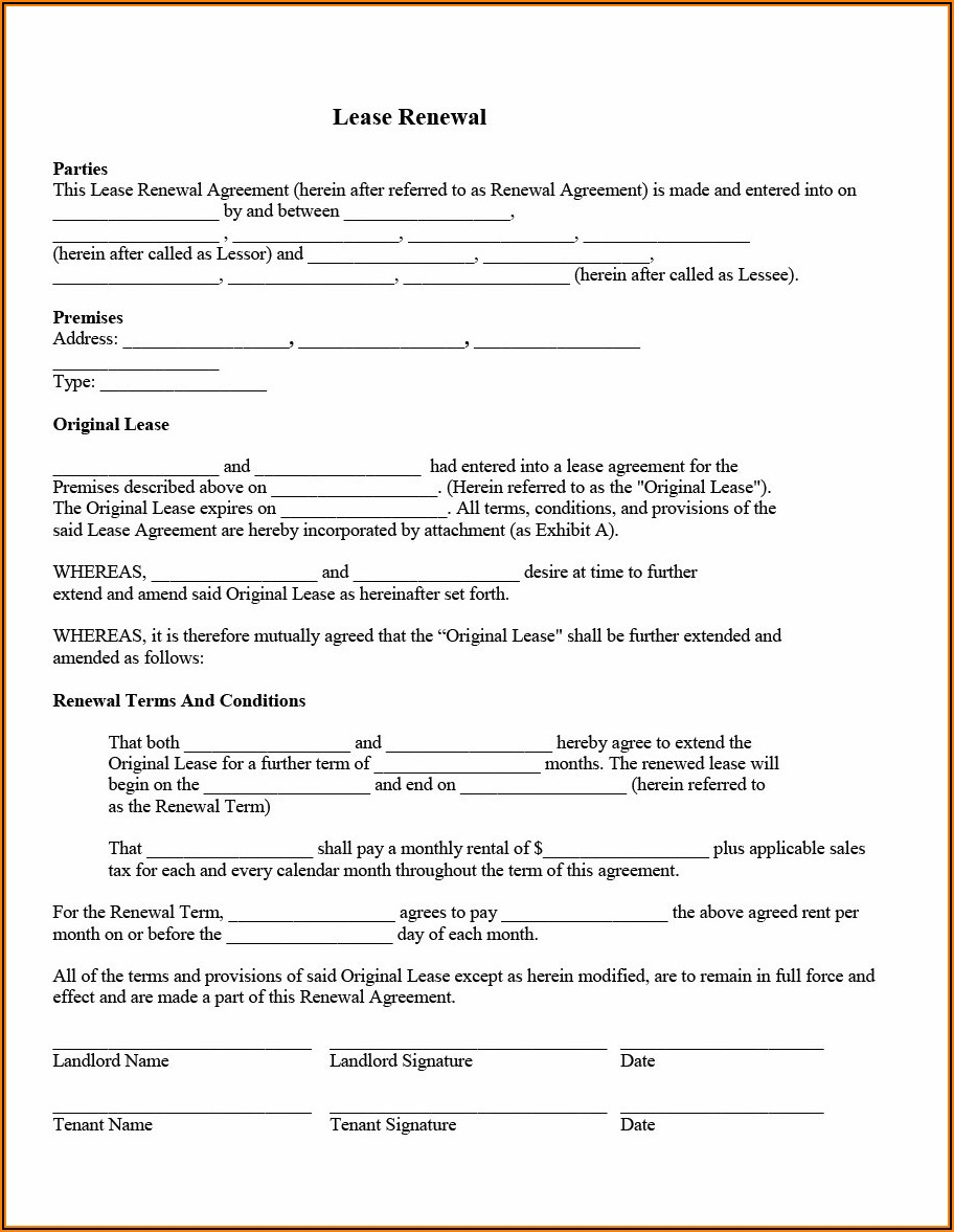 Printable Tenancy Agreement Template