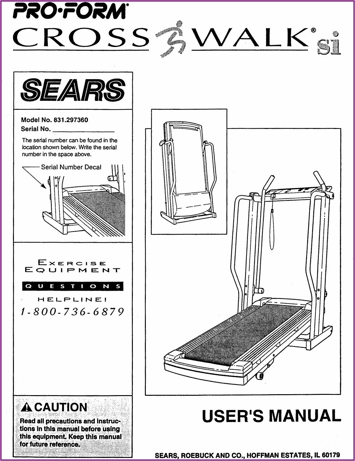 Proform Space Saver Treadmill Manual
