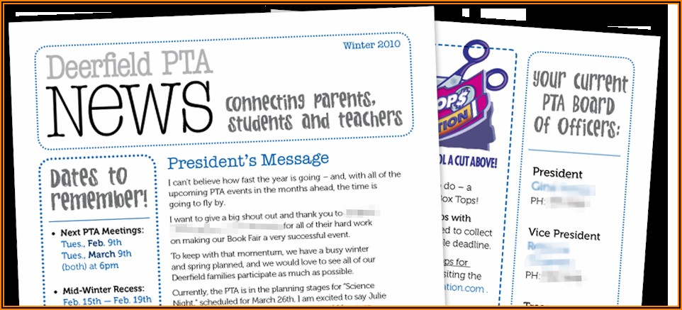 Pta Newsletter Templates In Word