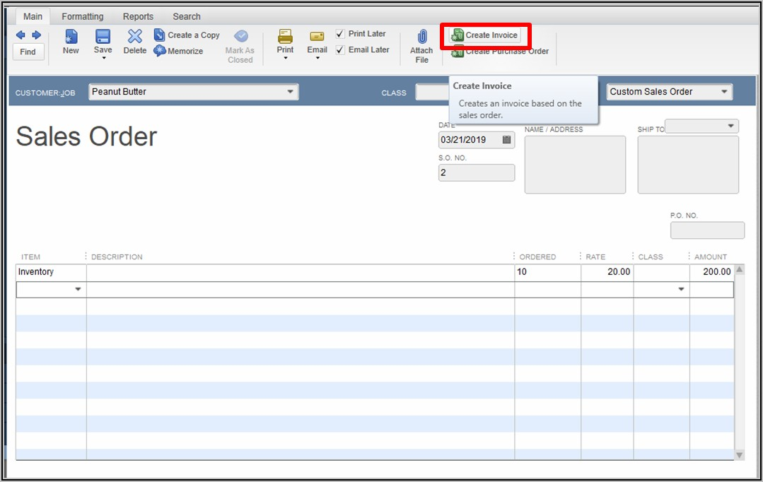 Quickbooks Change Invoice Column Order