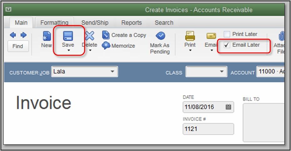 Quickbooks Create Invoice Template