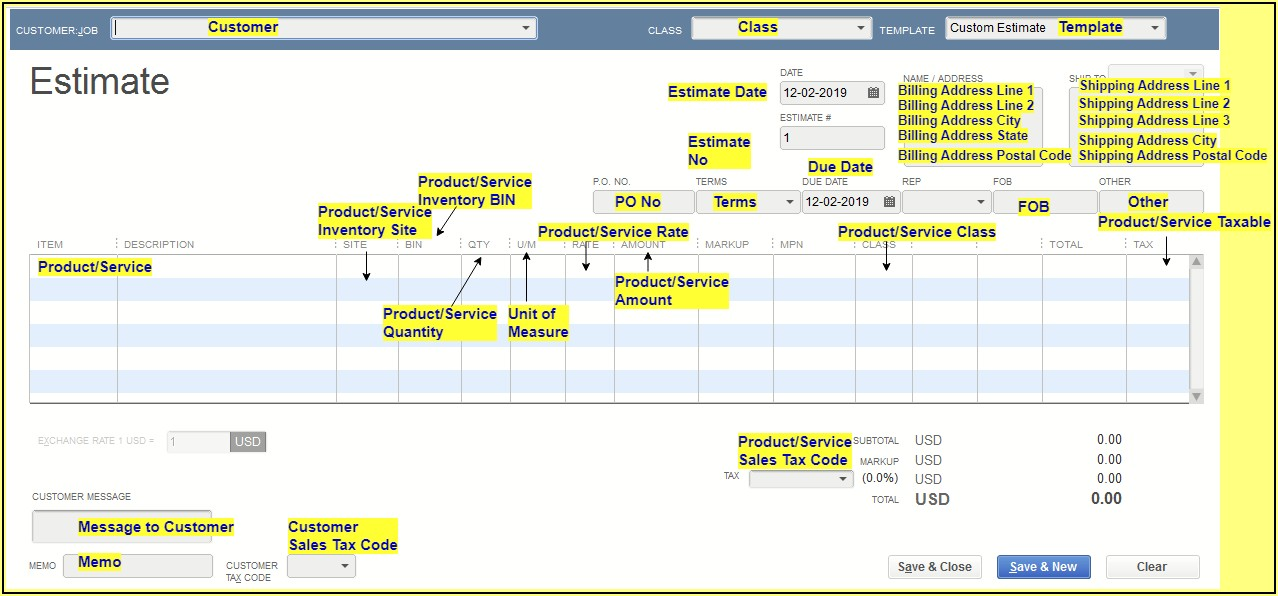 Quickbooks Desktop Change Default Invoice Template