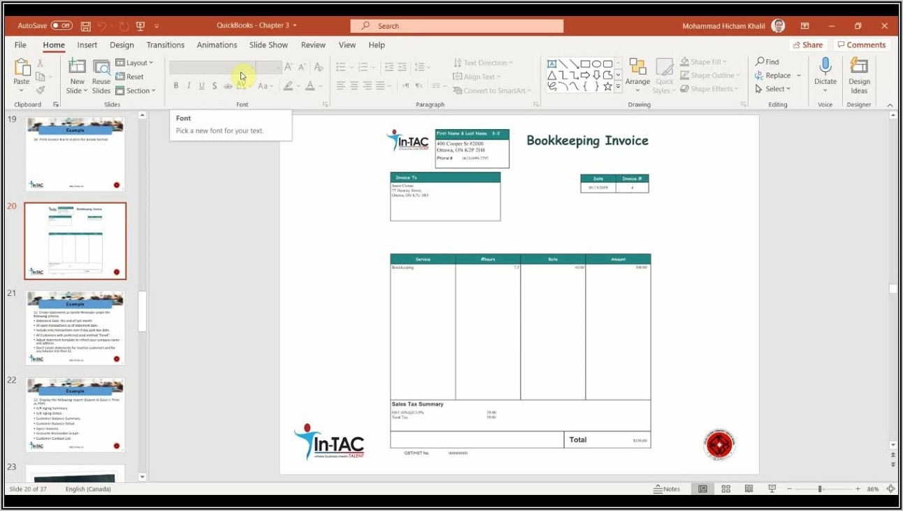 Quickbooks Desktop Customize Invoice Template