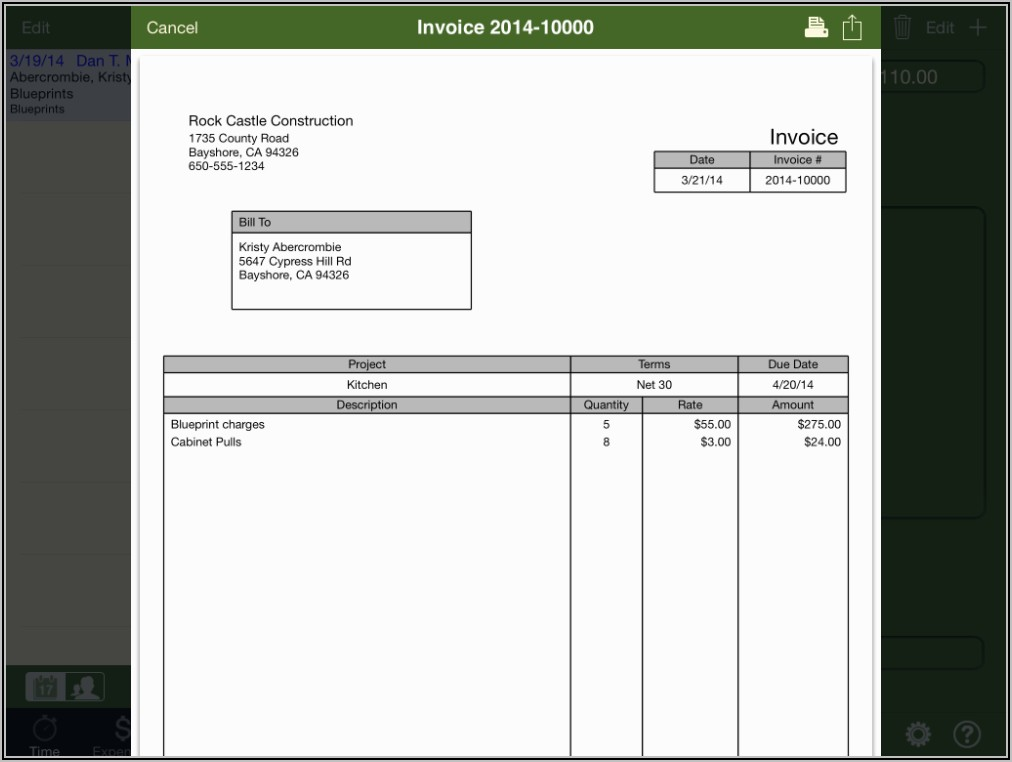 Quickbooks Invoice Templates Download Free