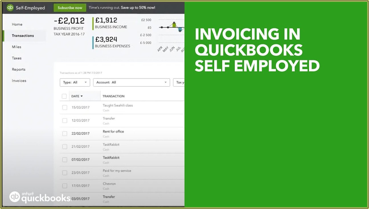Quickbooks Self Employed Invoice Template