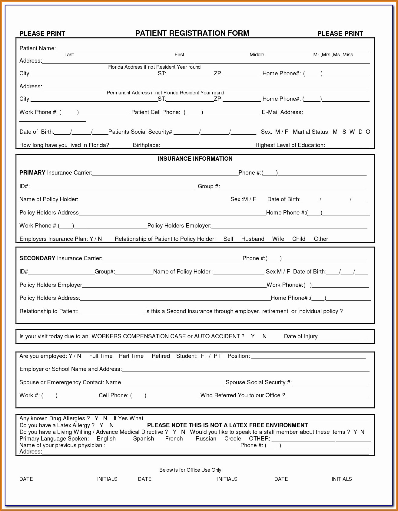 Registration Form Template Html Css Free Download