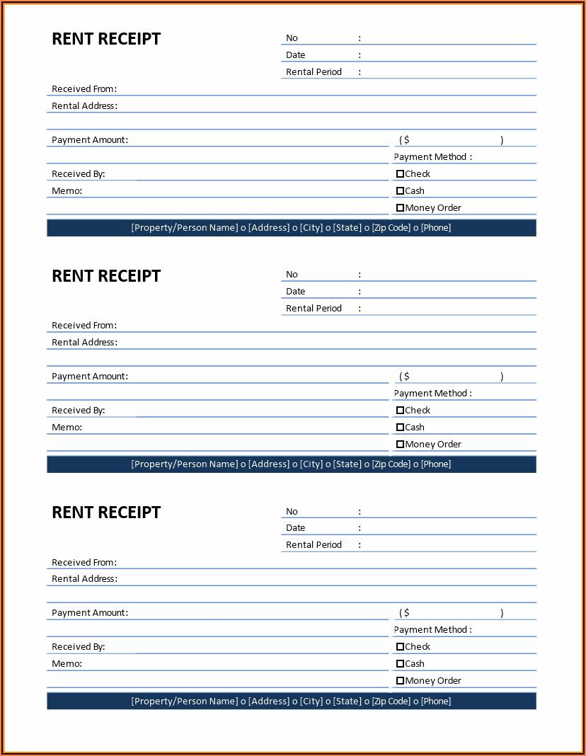 Rent Receipt Template Download