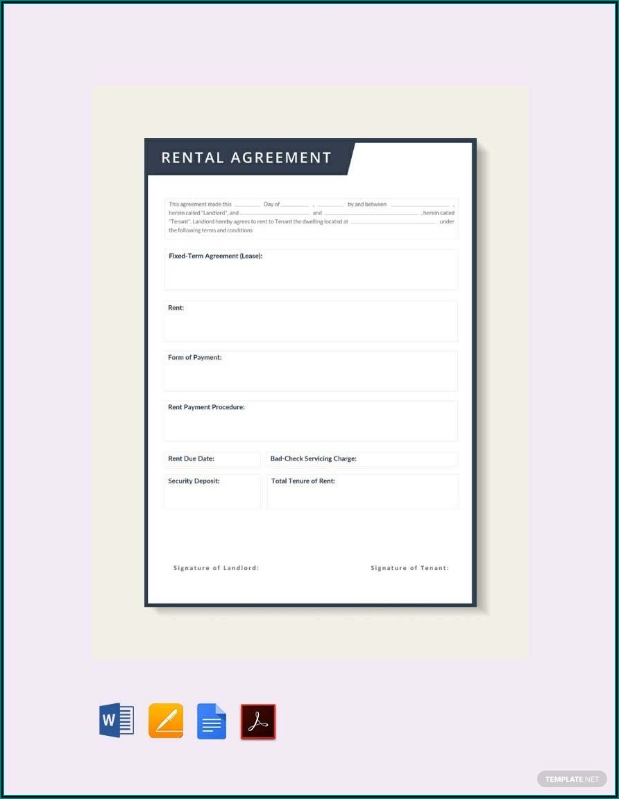 Rental Lease Agreement Template Word Doc