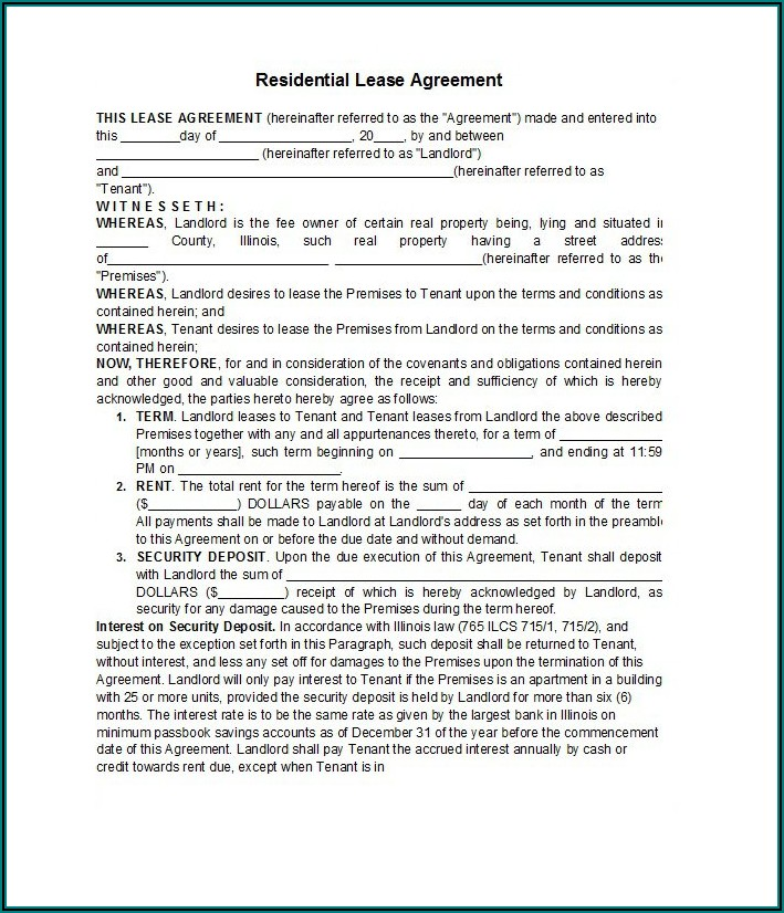 Rental Lease Agreement Template Word South Africa