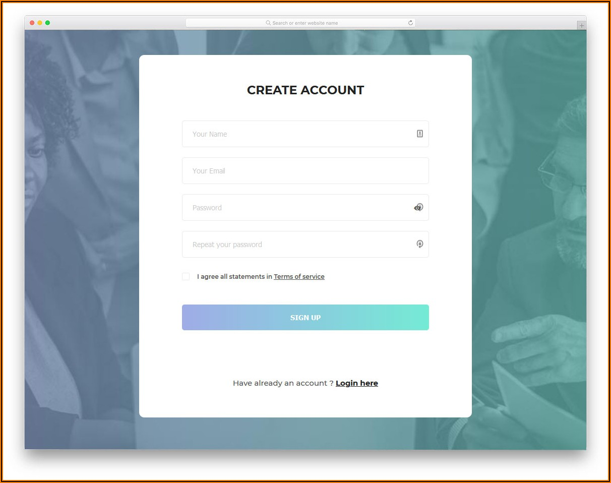 Responsive Login And Registration Form In Html Template Free Download