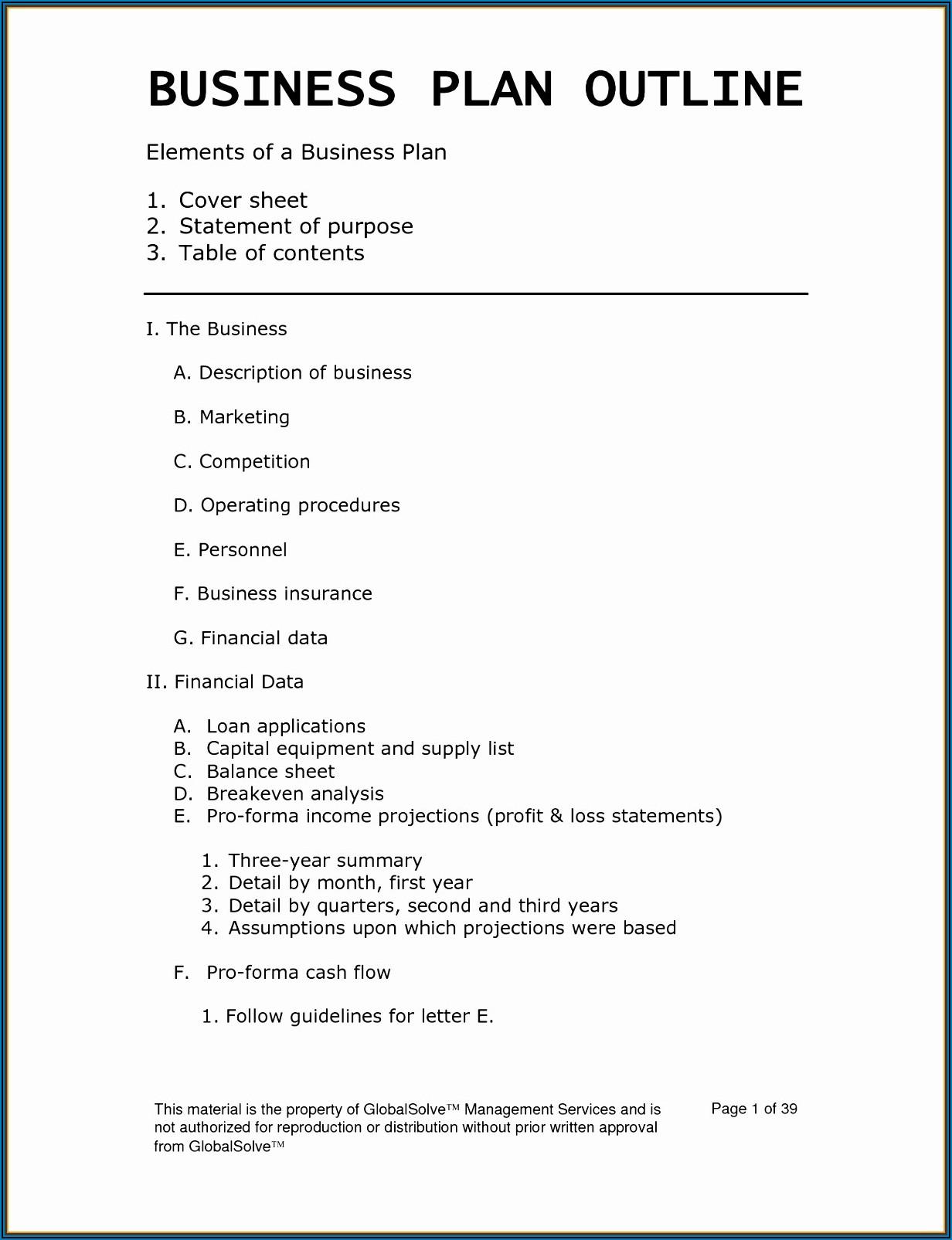 Restaurant Business Plan Sample Doc