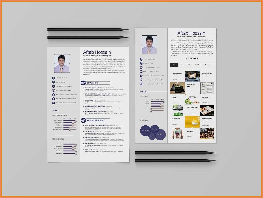 Resume Template 2 Pages Free