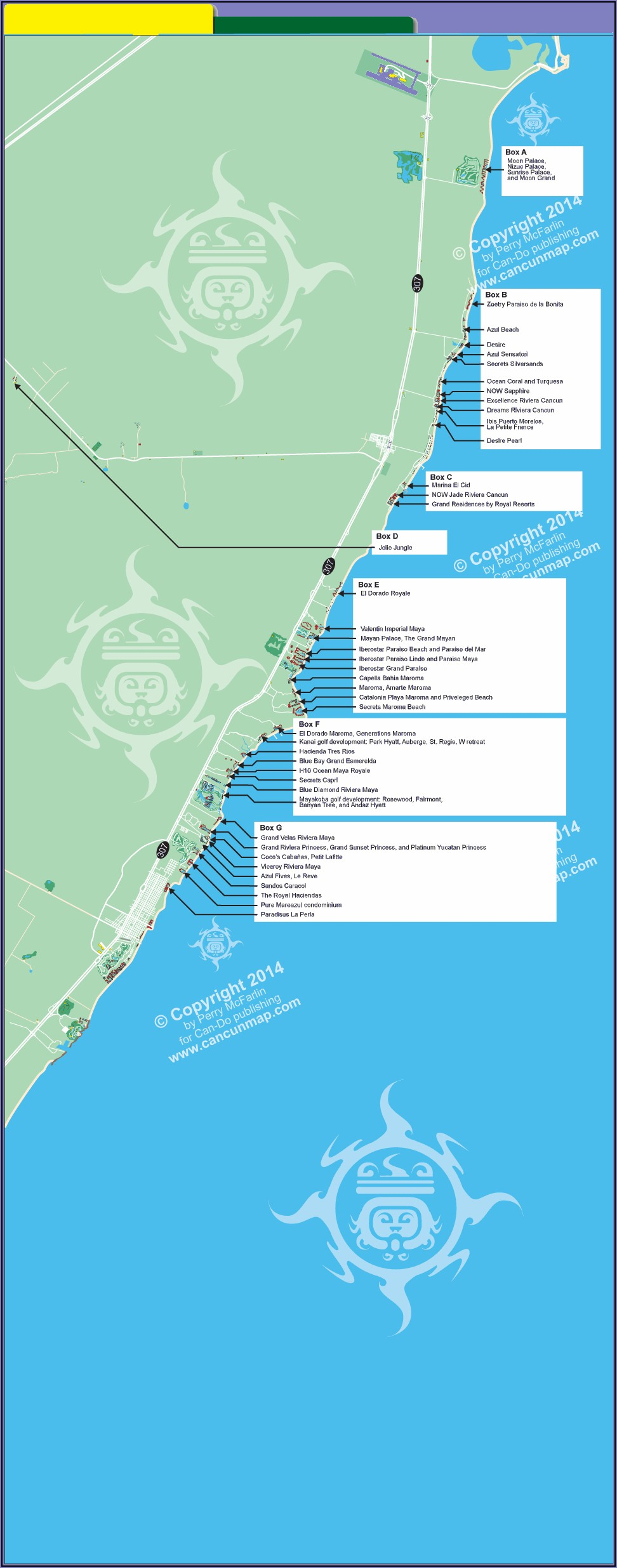 Riviera Maya Hotel Locations Map