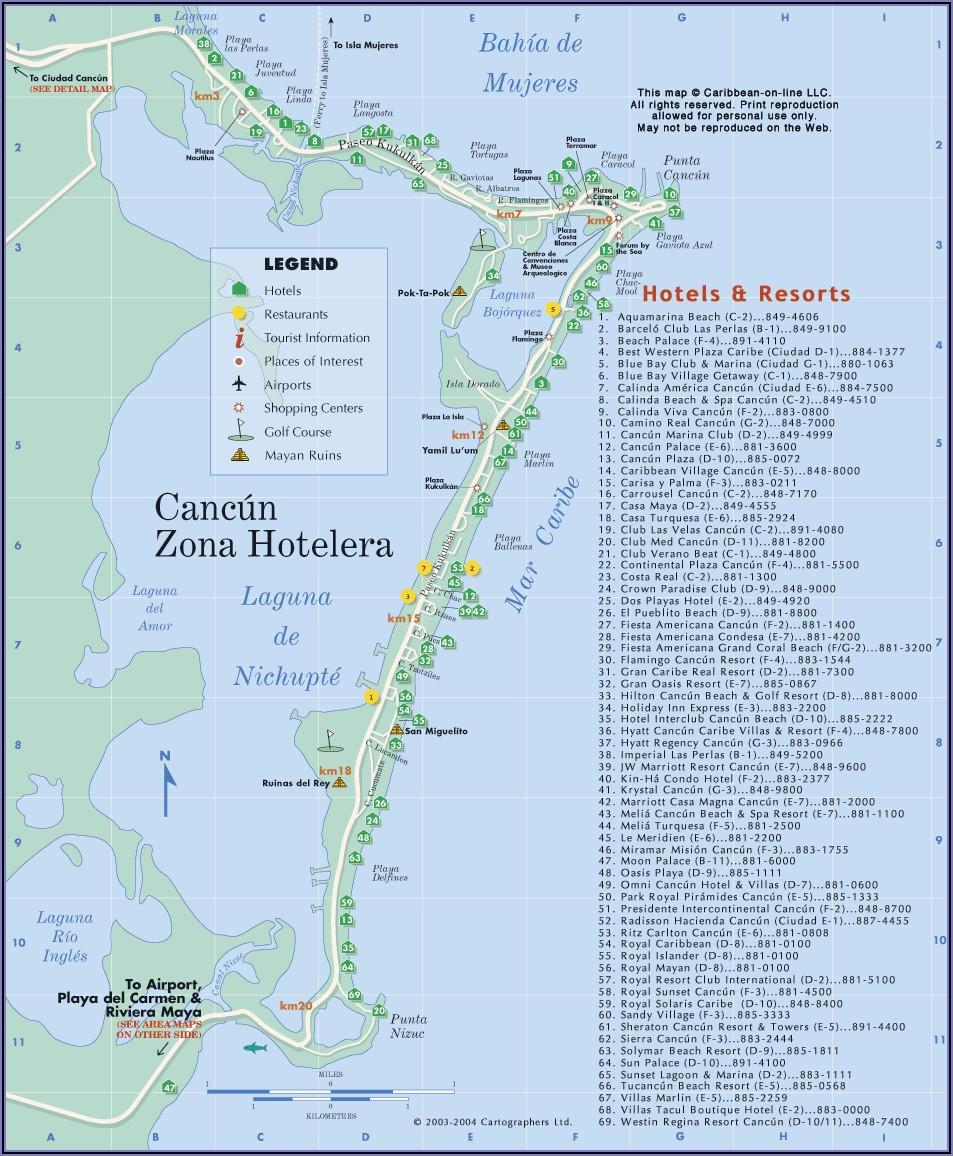 Riviera Maya Hotel Map 2019