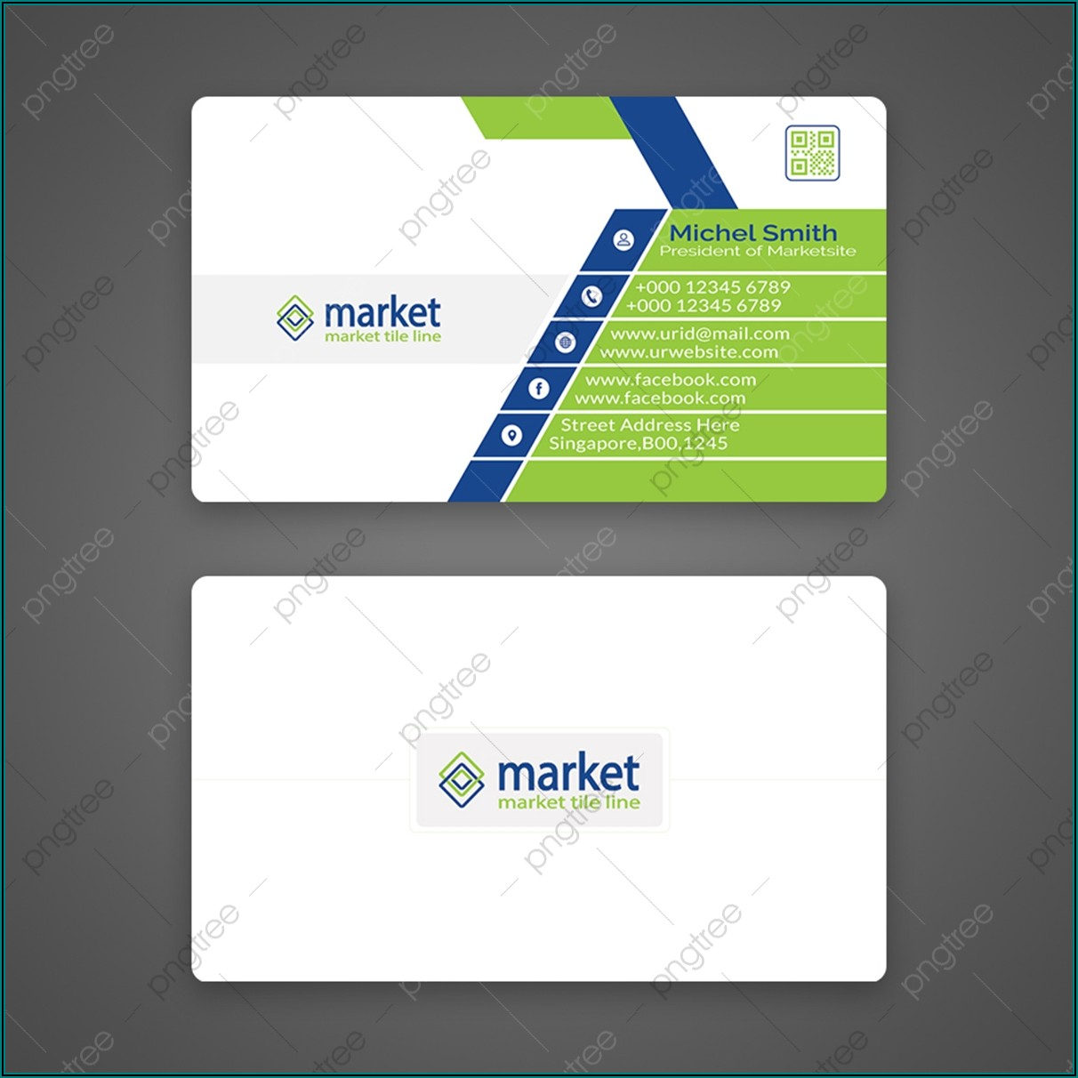 Rounded Corner Business Card Template