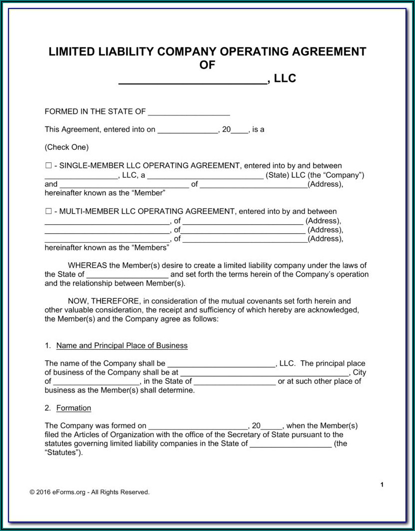 S Corp Bylaws Template Free