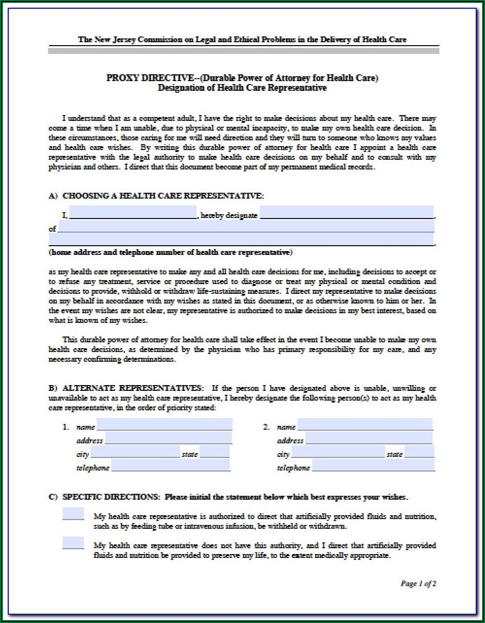 Sc Power Of Attorney Form Free