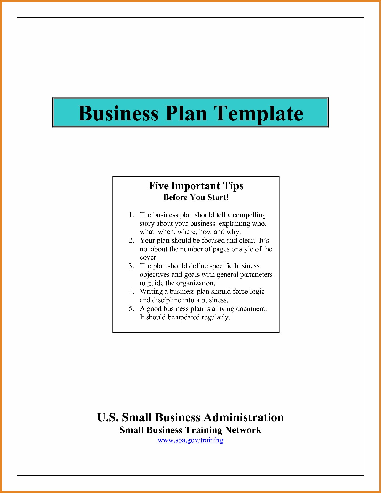 Simple Business Plan Template Free Word Uk
