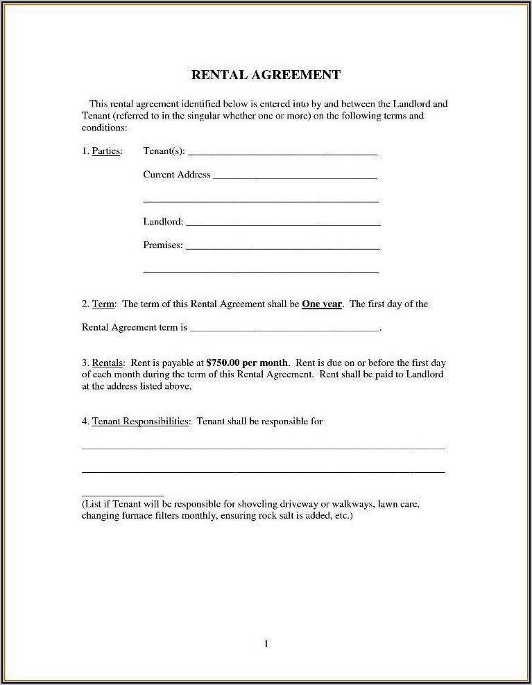 Simple Lease Form Free