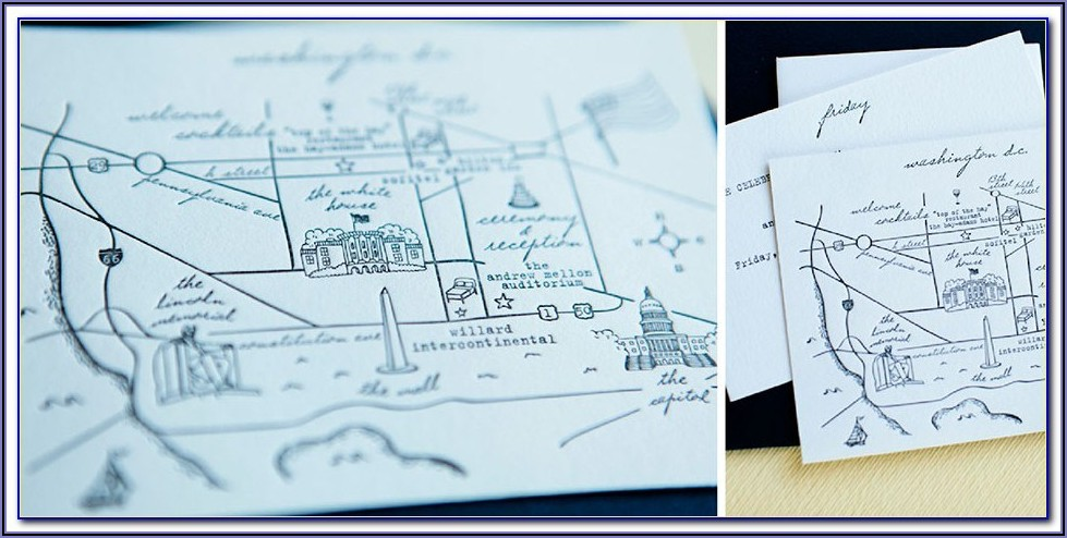 Simple Map For Wedding Invitations