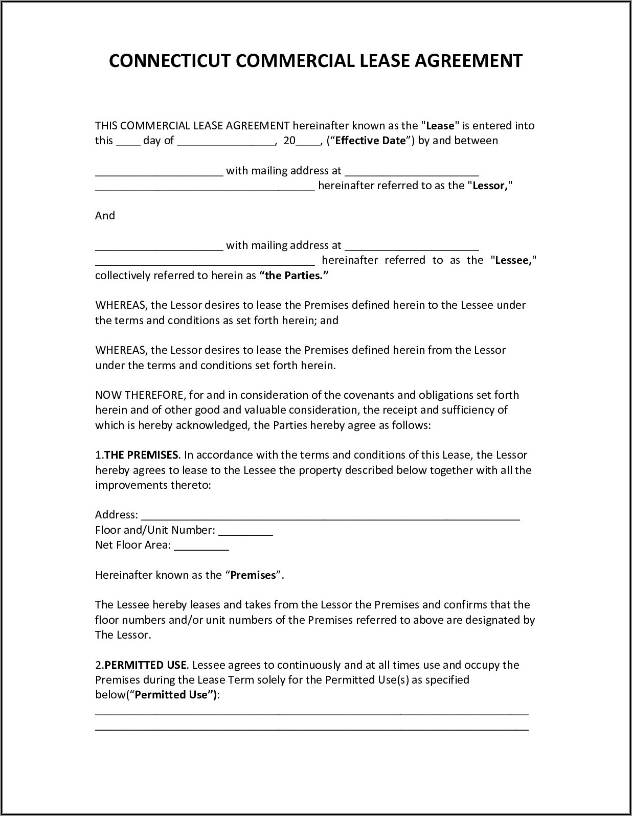 Simple Triple Net Lease Template