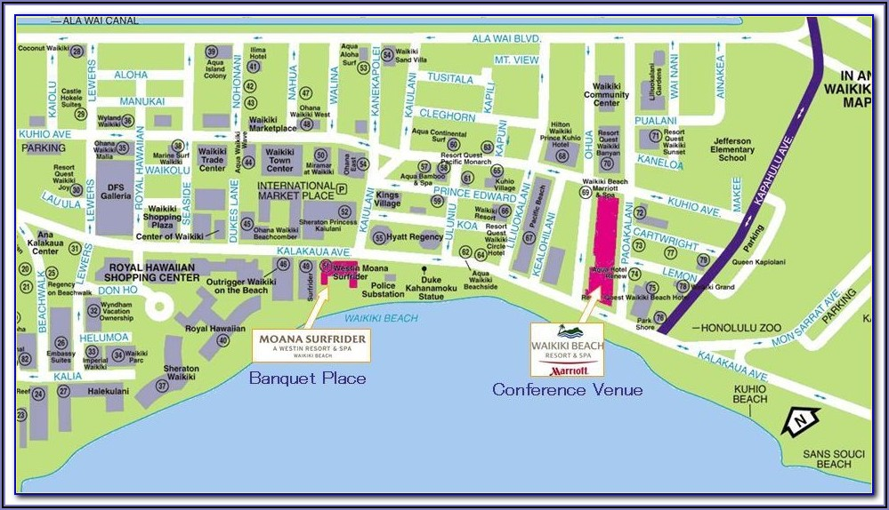 Street Map Of Waikiki Hotels