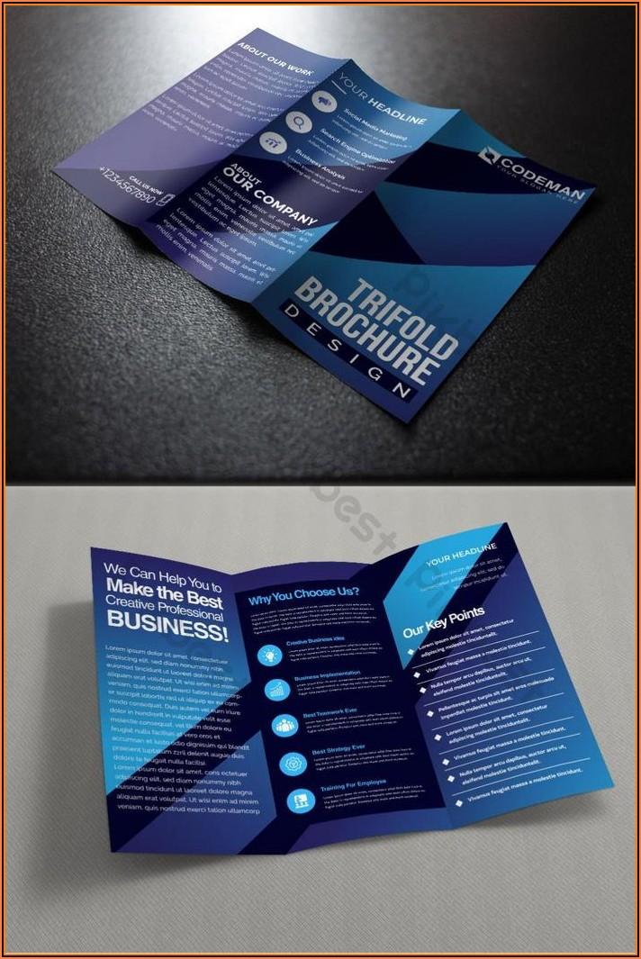 Template Trifold Brochure Ai
