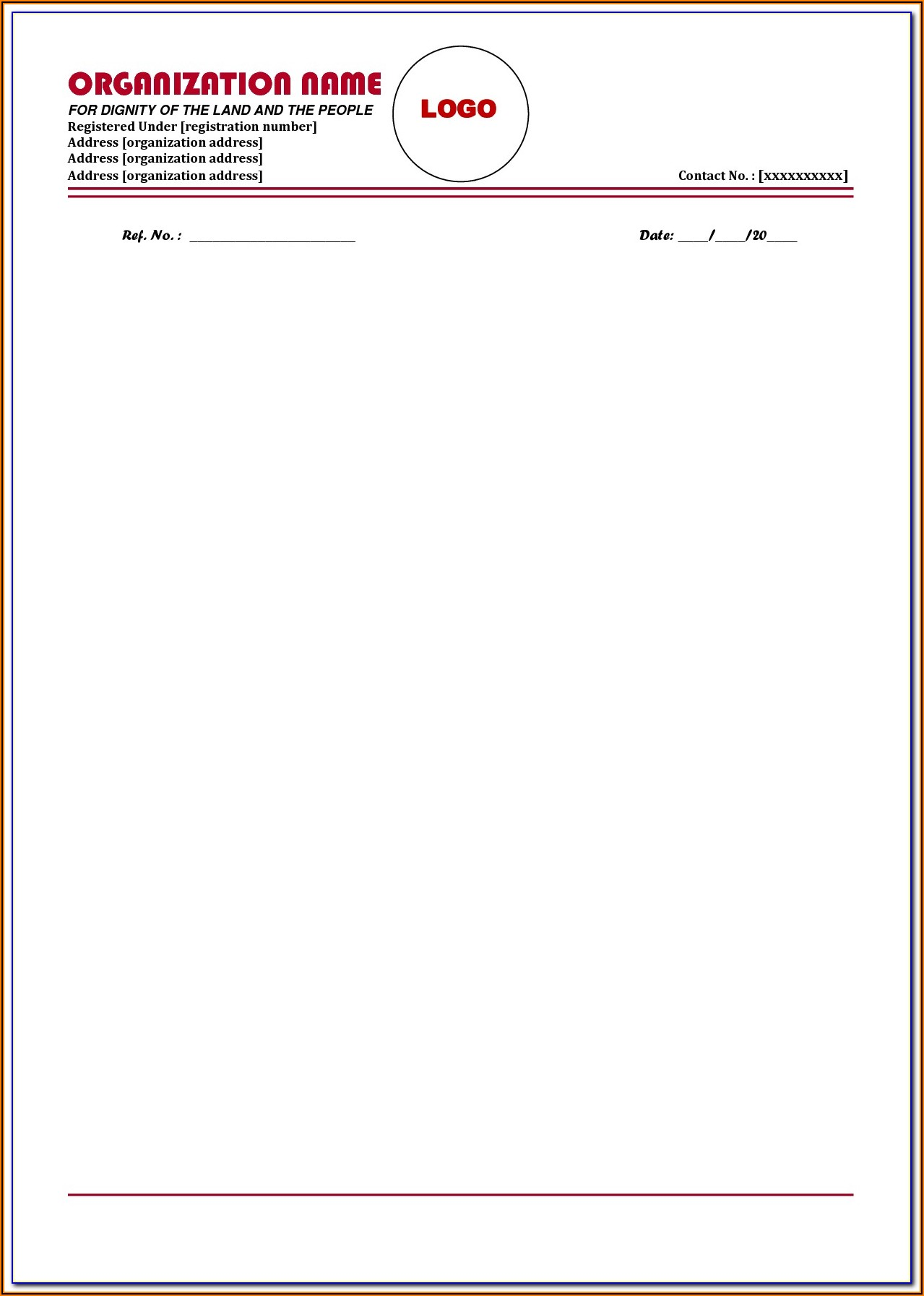 Templates For Letterheads