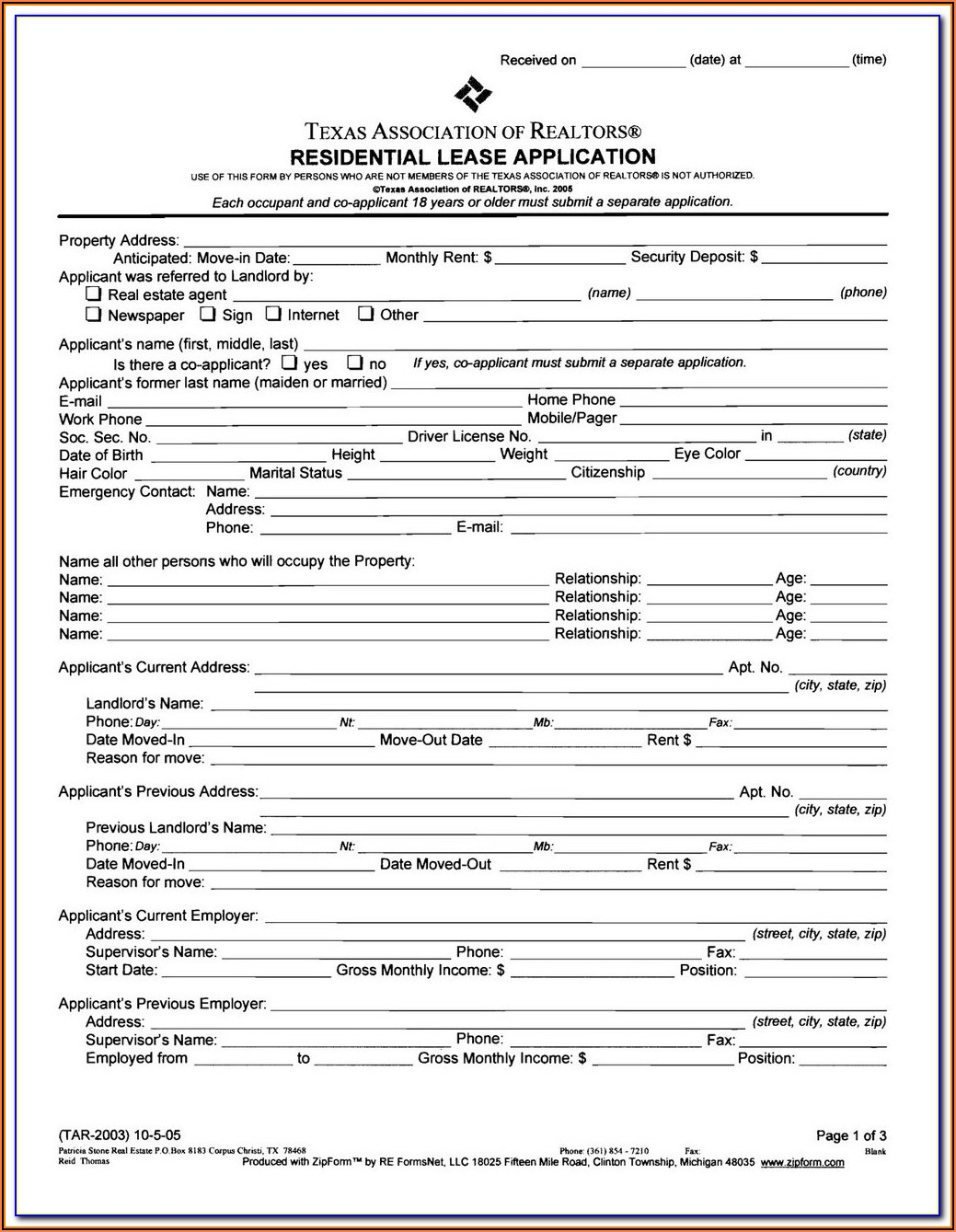 Texas Ground Lease Agreement Form