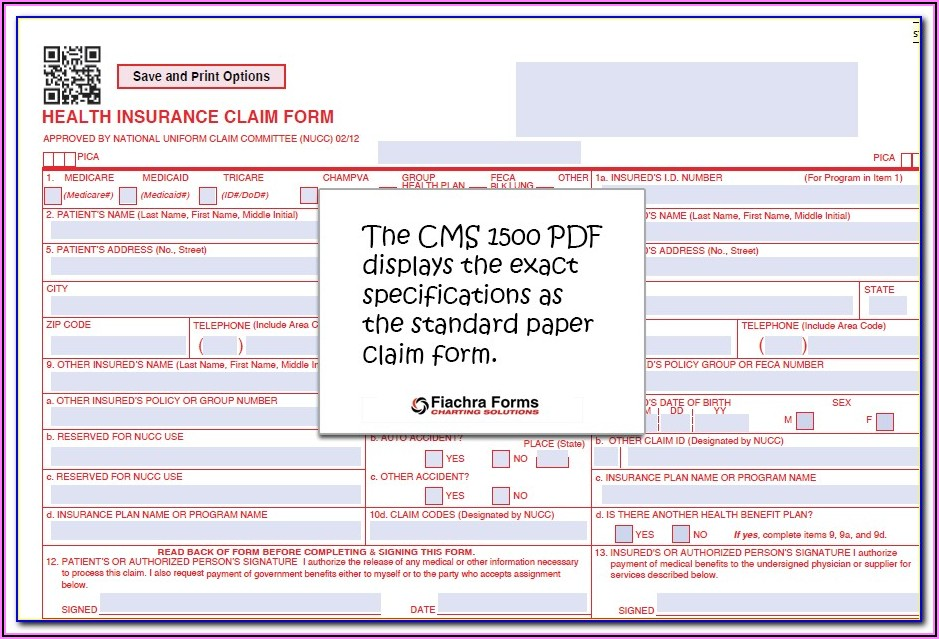 The Health Insurance Claim Form (cms 1500) Is Known As The