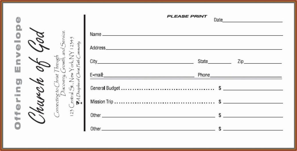 Tithe Envelope Template Free