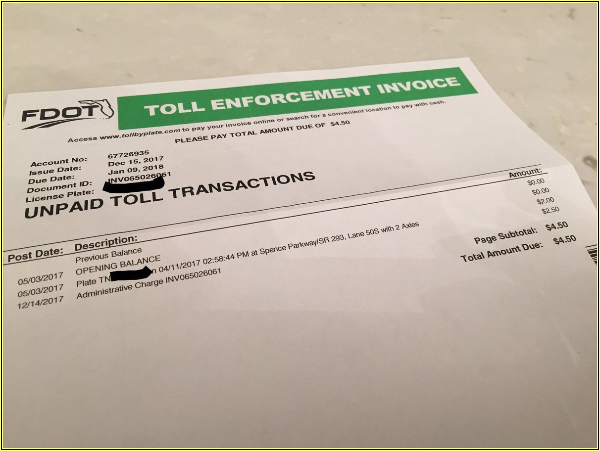 Toll Enforcement Invoice Pay Online Florida