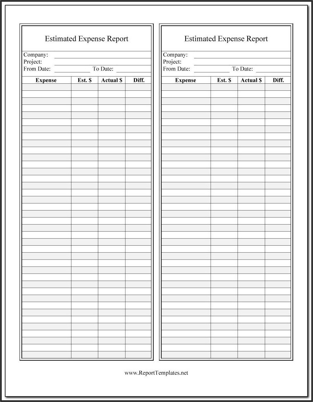 Travel Expense Template Free