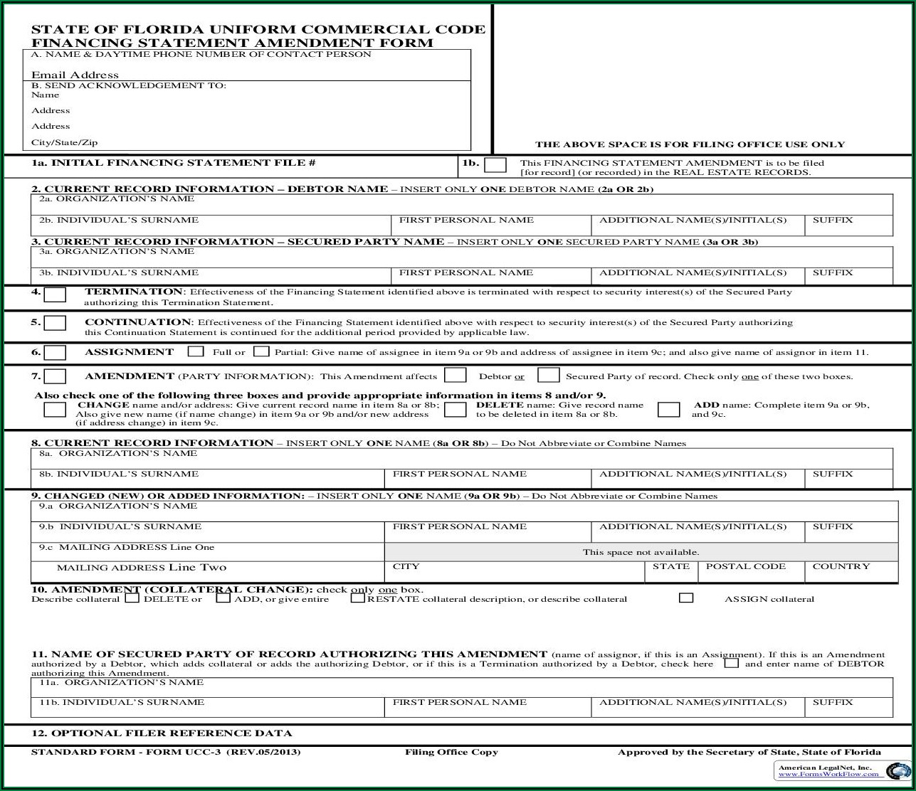 Ucc Filing Forms Florida