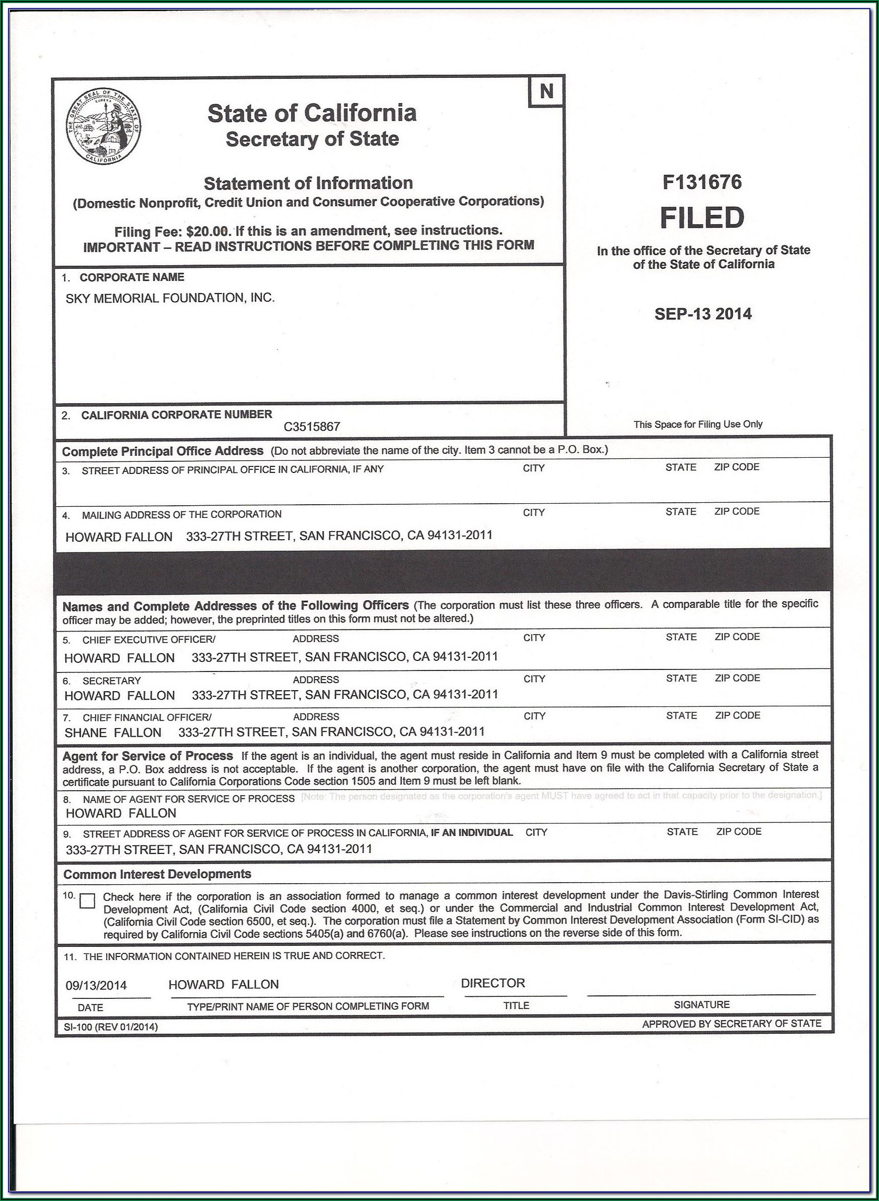 Ucc Filing Forms