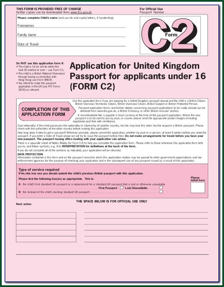 Uk Passport Renewal Form To Print